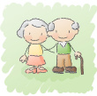 cartoon of grandparents