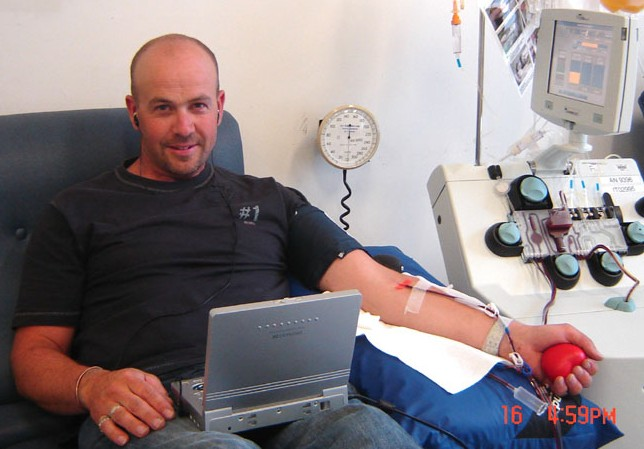 Picture of Jeff, blood and platelet donor
