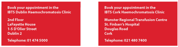 Details of IBTS HH clinics in Cork and Dublin